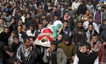 Funeral of martyr killed by Israel in Palestine