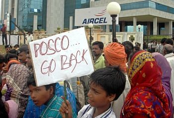 POSCO protestors