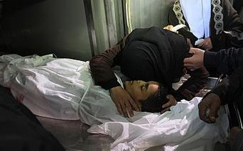 Recent victim of Isralei attack on Gaza 12 March 2012
