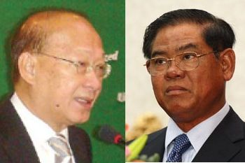 H.E. Ang Vong Vathna, Cambodia's Minister of Justice, and H.E. Sar Kheng, Cambodia's Minister of Interior.
