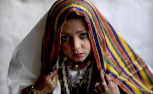 Veiled girl in Ghadames, Libya