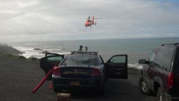 Car went off cliff near Depoe Bay, OR 3-17-14