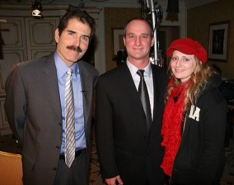 John Stossel of ABC News 2020 with Charles Lynch and supporter Cheryl Aischele