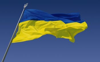 Ukraine flags