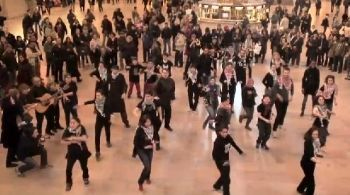 BDS 'flash mob' in New York