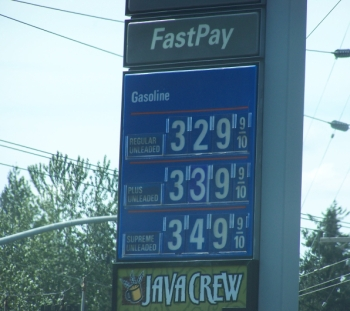 South Salem, Oregon gas prices last Saturday