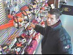 Surveillance image of suspected thief