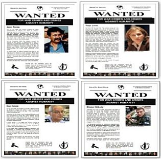 Israeli wanted posters for war crimes