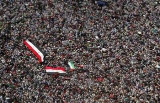 Cairo's iconic Tahrir square packed with thousands rallying in solidarity with Palestine.
