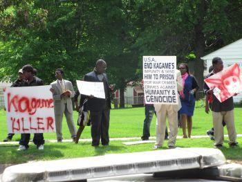 Kagame Protestors