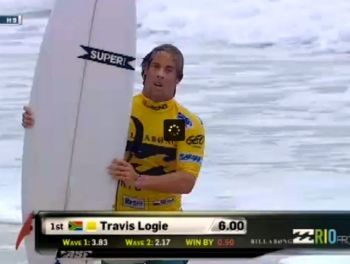 Travis Logie Today in Brazil with SUPERbrand Surfboards by Nuno Matta