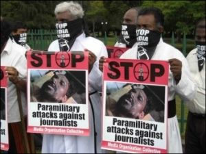 Protest over Sri Lanka Tamil Genocide- journalists deaths