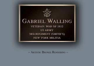 Gabriel Walling served in the War of 1812