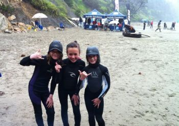 Kids at Otter Rock surf contest