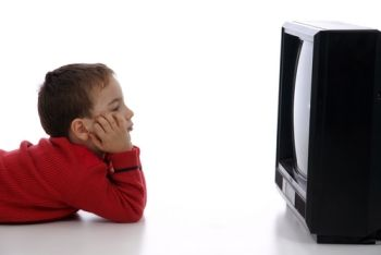 Kid with a TV