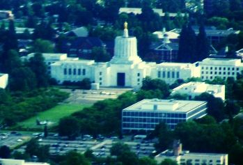 Oregon capitol by air