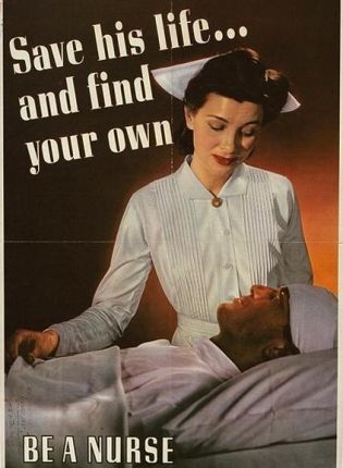 WWII nurse recruiting poster