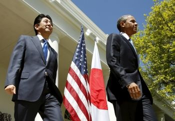 Japan's Abe and US Pres Obama
