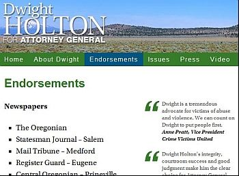 Dwight Holton endorsements