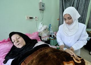 Gaza breast cancer patient