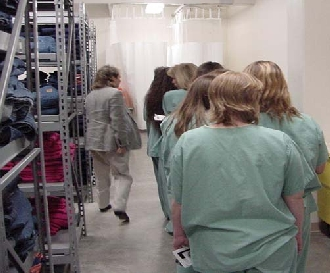Female inmates being processed into Sutter Creek