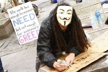 V at Occupy Wall St
