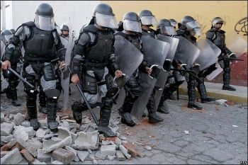 Mexican riot police
