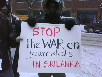 Stop war on Sri Lanka Journalists