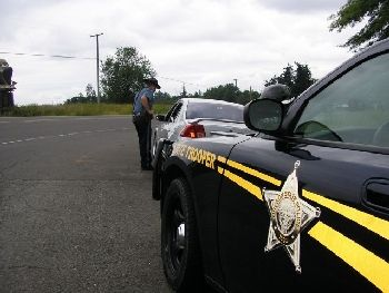 Oregon State Police during traffic stop