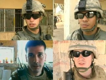 Clockwise from top left; Army S/Sgt. Ryan Ahern, Army Spc. Clarence Ariola, Marine Sgt. Cory Marcus, Marine Sgt. Jake Witt.