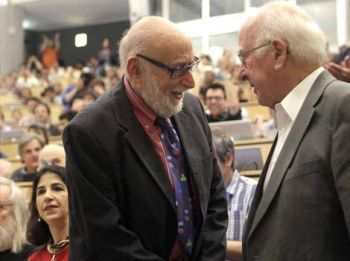 Peter Higgs and Francois Englert