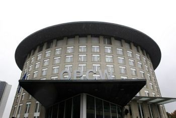 A view of the headquarters of the Organisation for the Prohibition of Chemical Weapons in The Hague on Oct. 11, 2013.