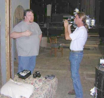 Tim King conducts an interview during a paranormal investigation in the Portland, Oregon area.