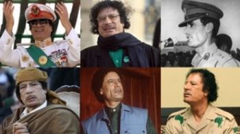Faces of Libya's Col. Muammar Gaddafi