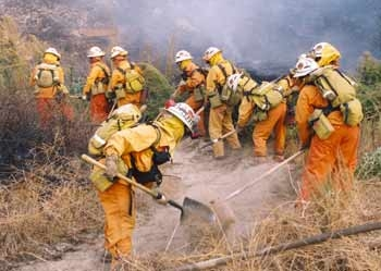 Inmate firefighters in California