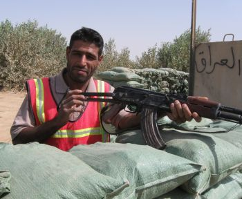 Sons of Iraq member whose position will be terminated with the end of U.S. payments.  Photo by Tim King Salem-News.com
