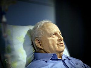 Life-size sculpture of incapacitated former Israeli prime minister Ariel Sharon