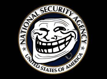 Logo from activist operation 'Troll the NSA' - intellihub.com