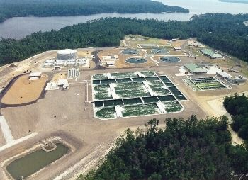 Camp Lejeune's wastewater treatment plant