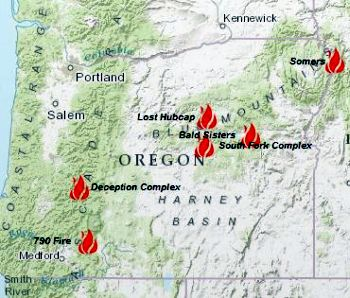 Six Forest Fires in Oregon Still Raging  SalemNewsCom