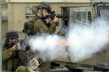 IDF forces firing in Gaza City