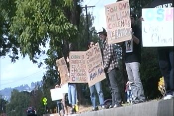 Oregon State Hospital protest