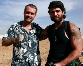 Ken O'Keefe and the late Vittorio Arrigoni in Gaza