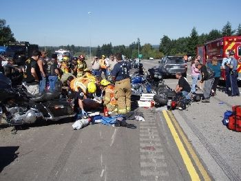 Motorcycle crash in Oregon 9-18-09