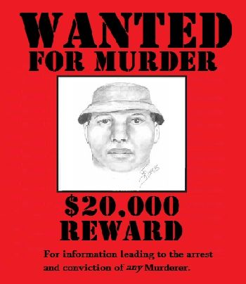 Wanted poster for murderer