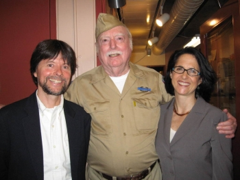 Ken Burns and Phil Leveque in Portland, Oregon