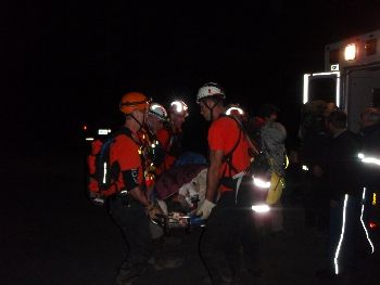 Rescue of horseback rider of Pacific Crest Trail 9-27-09